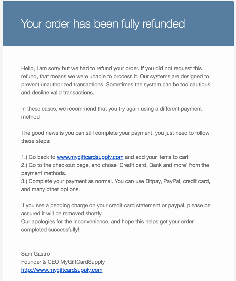 MyGiftCardSupply Reviews - 155 Reviews of Mygiftcardsupply com