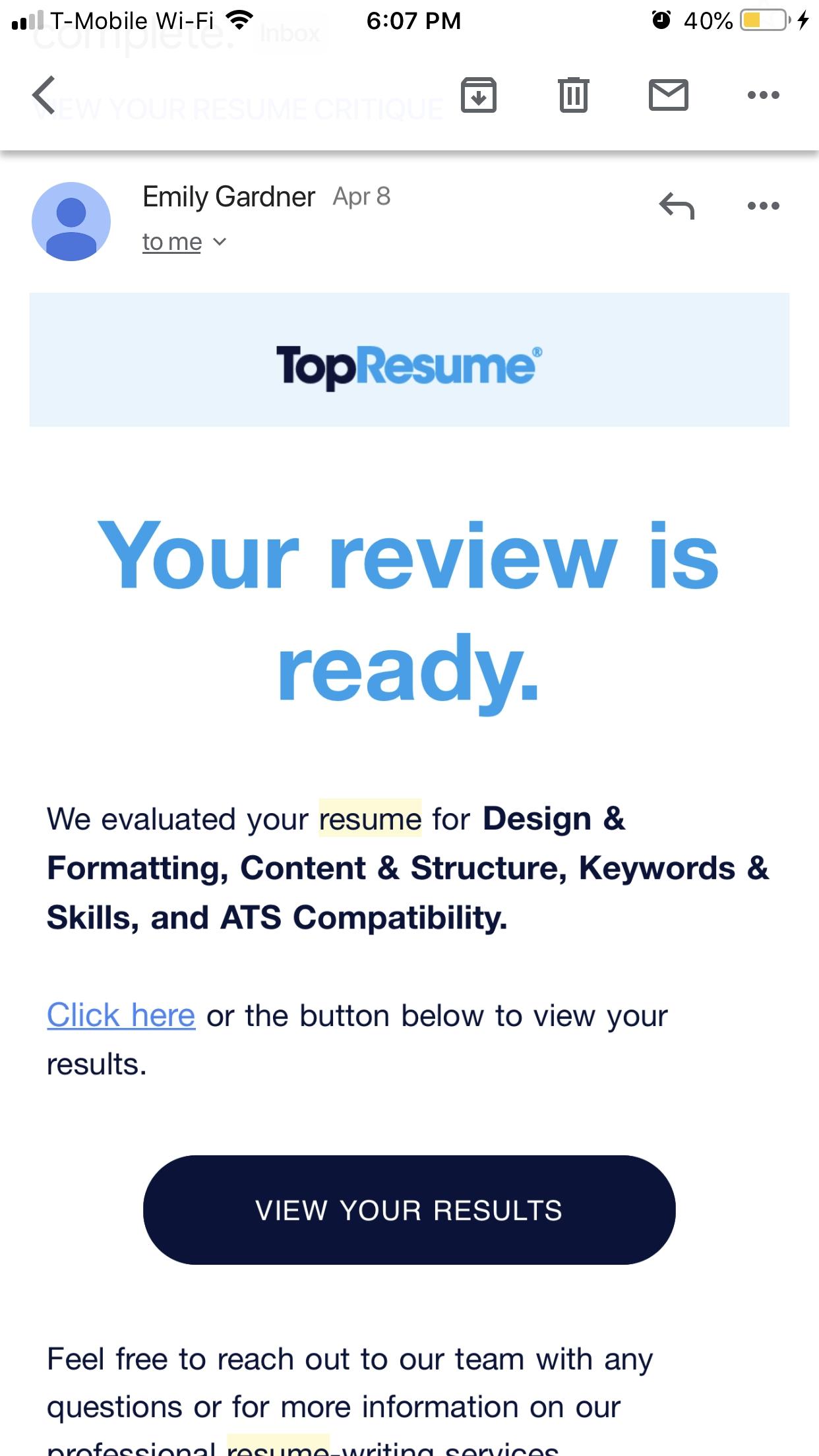 topresume reviews