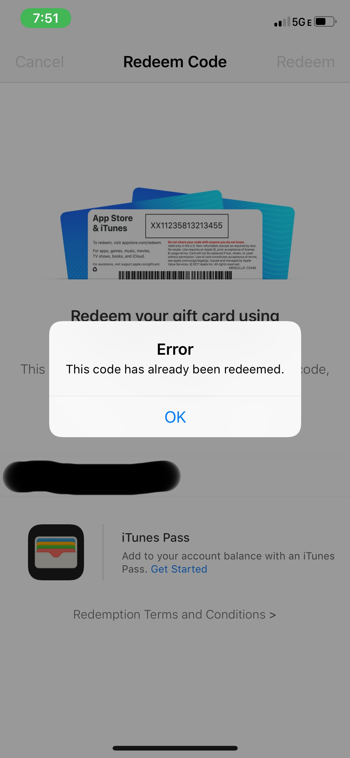 Redeemed Itunes Gift Card Not Showing Up