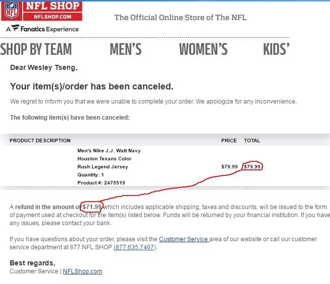 NFL Shop Reviews - 404 Reviews of Nflshop.com  d447a67e4ab3