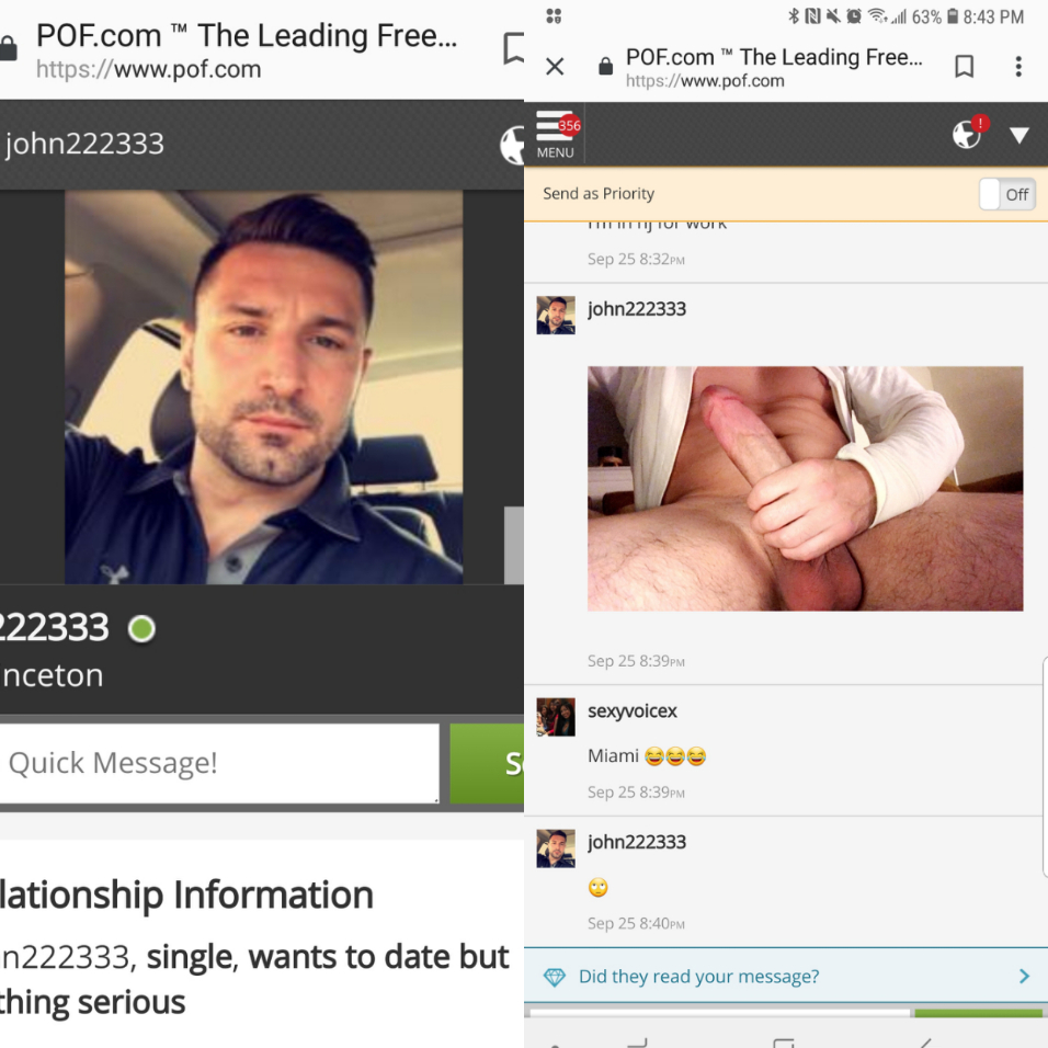 Dating side pof