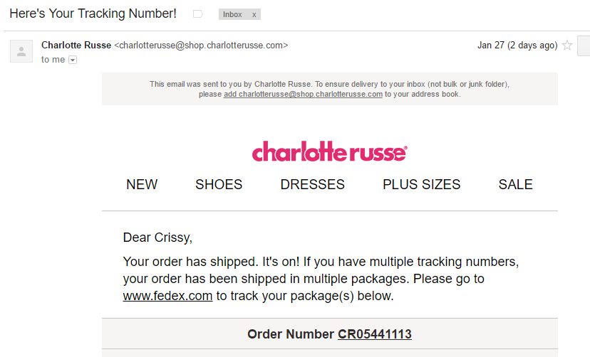 9dec09d18bc8 CharlotteRusse Reviews - 254 Reviews of Charlotterusse.com