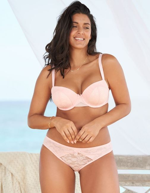 3693ccba4 Feel pretty in pink and super supported with Ofra. Balconette contour cups  hold you in