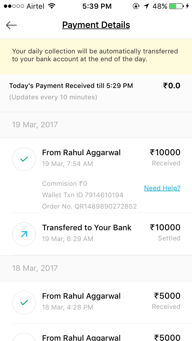 Fake Paytm Wallet