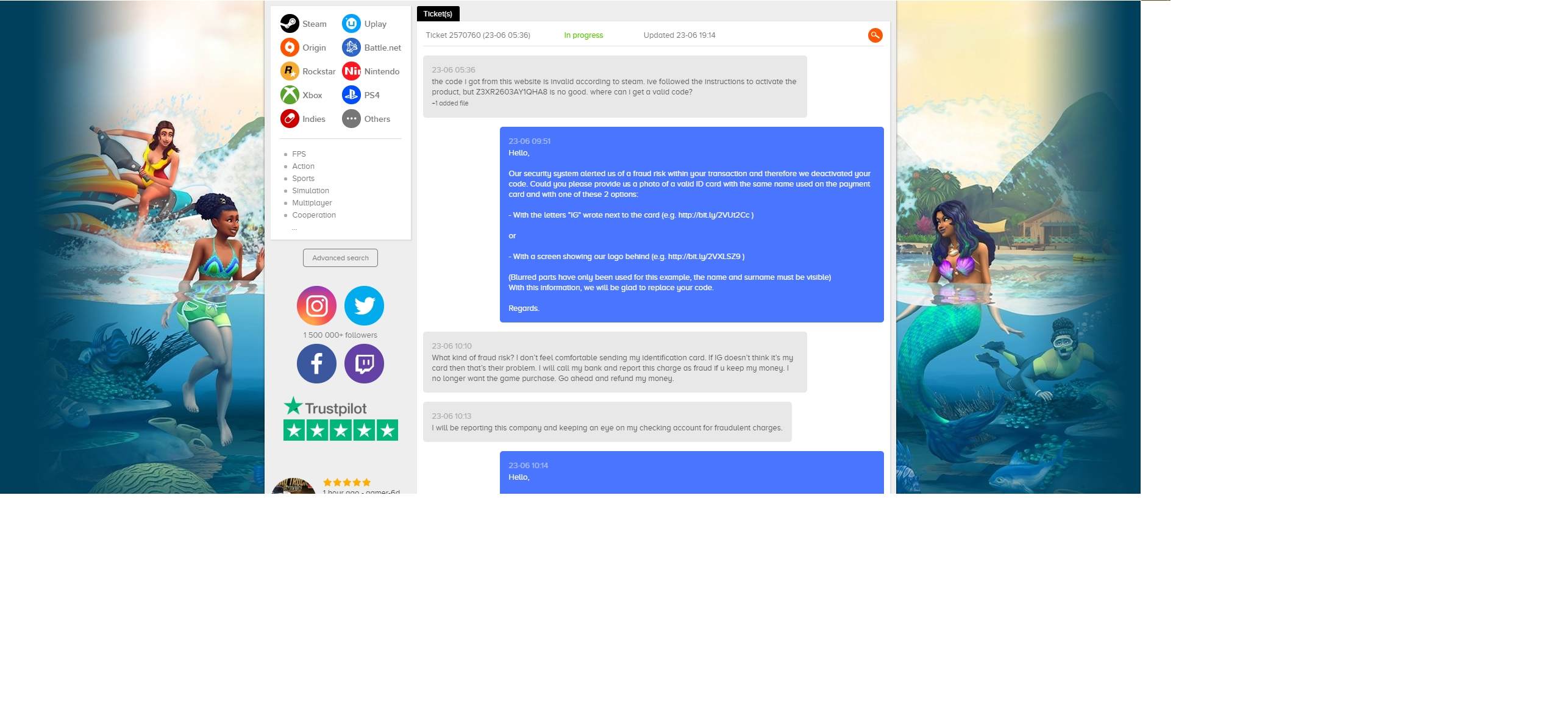Instant-Gaming Reviews - 31 Reviews of Instant-gaming com | Sitejabber