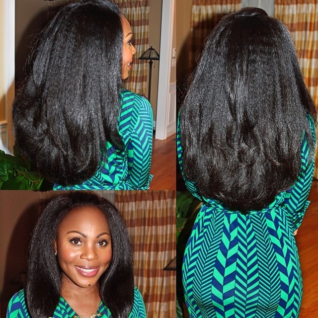 Onyc Beauty Wearing Hair Fro Out Straight Weft And Closure Piece