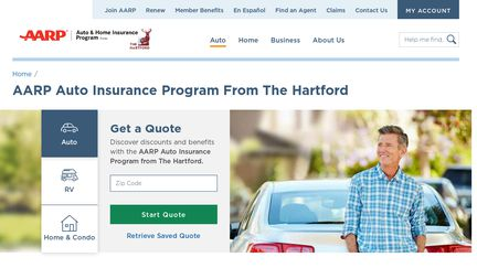 The Hartford Com Myaccount >> Aarp Auto Insurance Reviews 1 Review Of Aarp Thehartford