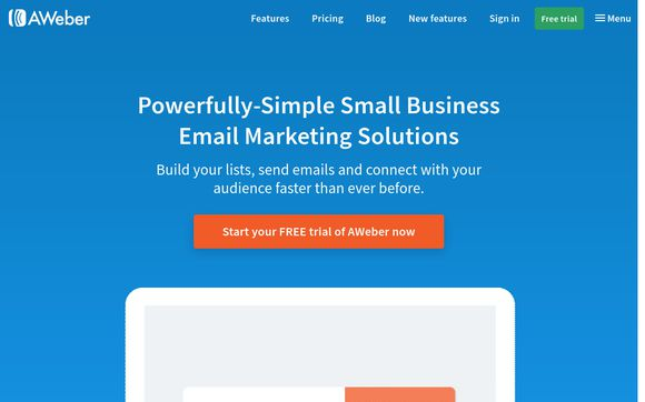 Aweber Email Marketing Online Coupon 100 Off