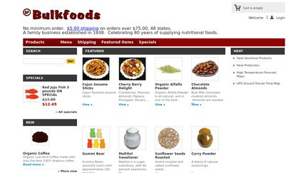 Bulkfoods com Reviews - 29 Reviews of Bulkfoods com | Sitejabber
