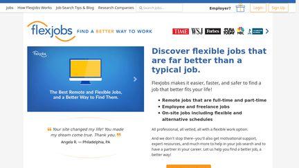 FlexJobs Reviews - 227 Reviews of Flexjobs com | Sitejabber
