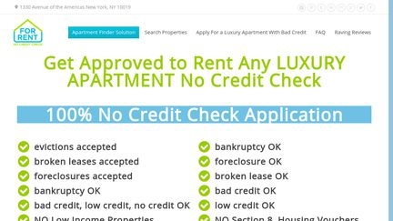 For Rent No Credit Check Reviews - 11 Reviews of