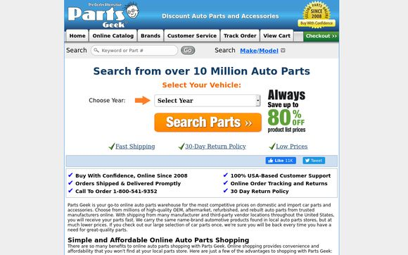 geek auto parts phone number
