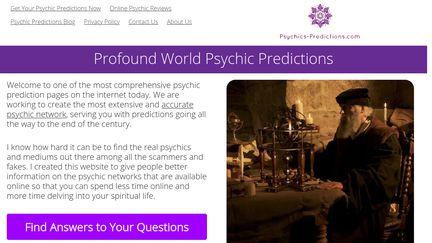 Psychics Predictions Reviews - 134 Reviews of Psychics-predictions