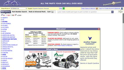 Rockauto Customer Service >> Rockauto Reviews 181 Reviews Of Rockauto Com Sitejabber