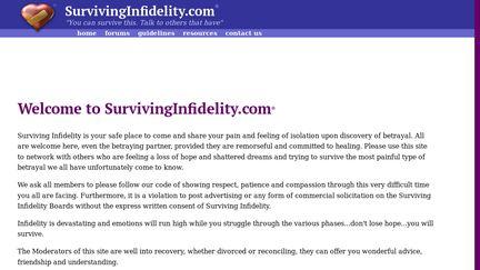 SurvivingInfidelity Reviews - 57 Reviews of Survivinginfidelity com
