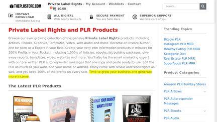 Theplrstore Reviews - 1 Review of Theplrstore com | Sitejabber
