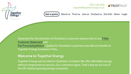 Together Energy Reviews >> Together Energy Reviews 3 Reviews Of Togetherenergy Co Uk