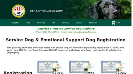 USA Service Dogs Reviews - 78 Reviews of Usaservicedogs org