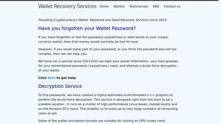 Wallet Recovery Services Reviews - 1 Review of
