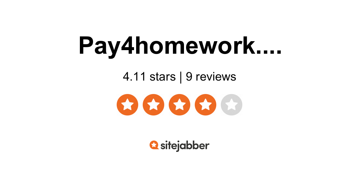 Pay for homework