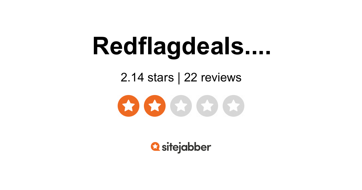 Redflagdeals Reviews 15 Reviews Of Redflagdeals Com Sitejabber