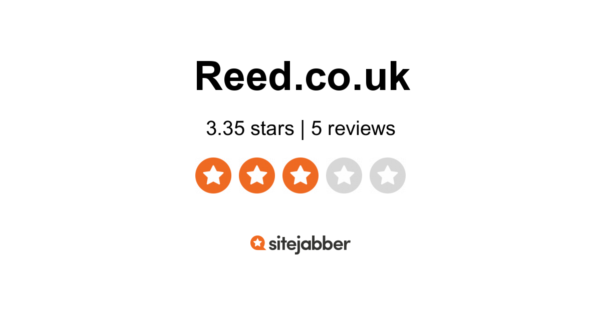 Reed Co Uk Reviews 3 Reviews Of Reed Co Uk Sitejabber
