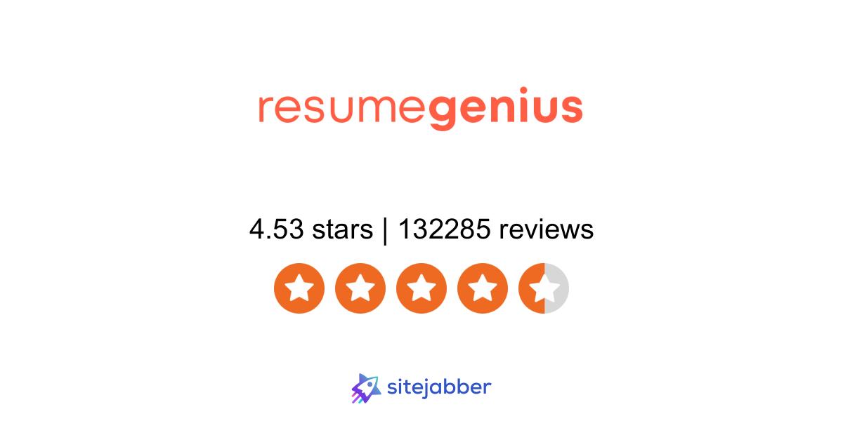 Resumegenius Reviews 32 832 Reviews Of Resumegenius Com Sitejabber